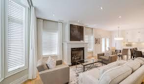 budget blinds white wood blinds living room