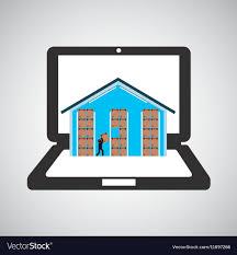 Warehouse Design Online Online Delivery Concept Warehouse Storage