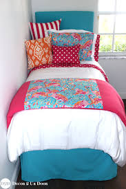 Lilly Flamingo Blue, Pink & Orange Designer Teen Bedding Set