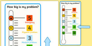 How Big Is My Problem Chart Sen Feeling Charts And Aids Resources Page 3