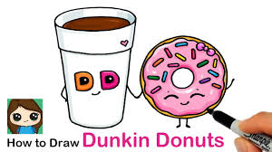 Cute easy drawings to help improve your concentration and memory. How To Draw A Cup Of Coffee And Donut Easy Dunkin Donuts Youtube