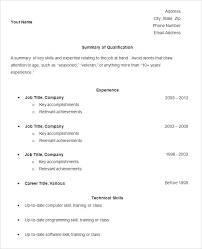 Simple Sample Resume Examples – Directory Resume Sample