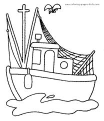 Small Picture Fishing Boat color page kolorowanki dla dzieci Pinterest