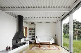 1 cool modern open fireplace design