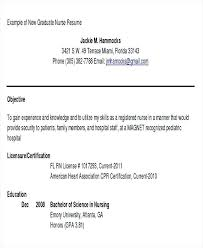 Resume Objective Examples Nursing Airexpresscarrier Com