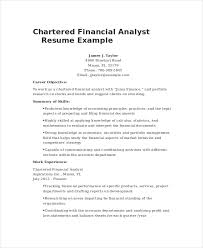 Financial Analyst Resume Objective Financial Analyst Resume 100 PDF Word Documents Download Free 33