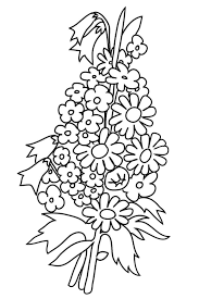 50 State Flowers Free Coloring Pages American Week At Flower Baby