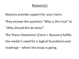 the tem exam making a claim in your essay thesis statement the  4