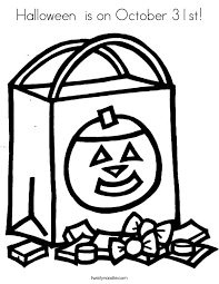 Small Picture Halloween is on October 31st Coloring Page Twisty Noodle