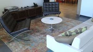 art modern rug a modern rug with earth tone colors complemented the furniture in this loft