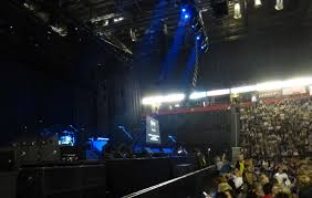 view of wet wet wet from seat block 102 at manchester arena