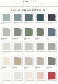 Magnolia Paint Colour Chart Joanna Gaines Magnolia Home Paint Line Rainy Days Sir