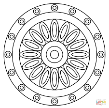 Small Picture Mandala Designs Coloring Pages Coloring Site Mandala Designs