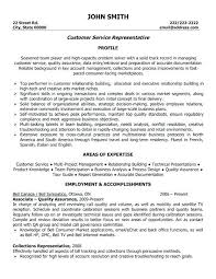 Sample Resume Customer Service Representative Customer Service