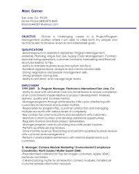 Program Management Resume Sample Financial Planning Analyst Sample
