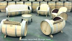 reversible reclaimed wine barrel. Whiskey Barrel Furniture Table Ideas Wine Old Chair . Reversible Reclaimed