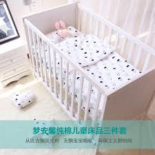 3pcs set baby bedding set cotton crib bedding for newborn black white clouds raindrop design flat