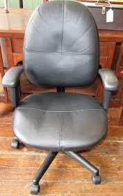 Office Chair With Adjustable Arms Adjustable Leather Desk Chair Swivel Height Arms