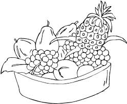 Small Picture Mixed Fruit in One Bowl Coloring Page NetArt
