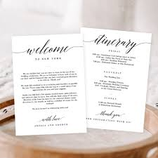 Welcome Card Templates 023 Template Ideas Wedding Itinerary Templates And Timelines