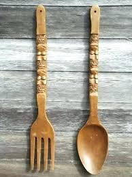 fork  on fork and spoon wall art hobby lobby with fork and spoon decoration extra large spoon and fork with aluminium