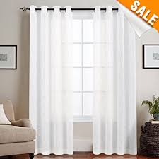 open window with curtains. Contemporary Curtains Linen Like Sheer Curtains For Living Room Open Weave Grommet Top Window  Treatments Bedroom On With D