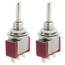 2 way toggle switch 2 pcs 2a 250vac 5a 120vac spdt on off on 3 way