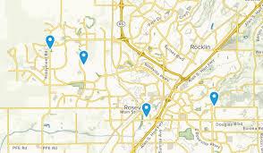 roseville california trail running map