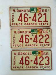 mixed lot of license plates all in good condition man north dakota truck license plate 1966