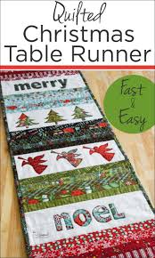 Quilted Christmas Table Runner - The Seasoned Homemaker & Handmade items are one of the best Christmas traditions. This Quilted  Christmas Table Runner is Adamdwight.com