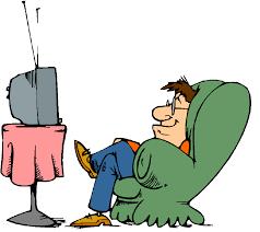 Cartoon watching tv clipart - WikiClipArt