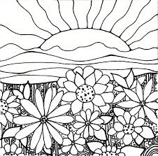 Sunset coloring pages on location of crash
