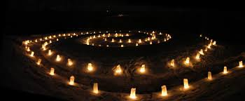 luminaries spectacular lighting display. The Spiral Tail Of Serpent Mound Lit With Luminary Candles For Winter Solstice. Luminaries Spectacular Lighting Display