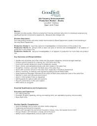 Warehouse Resume Template Examples 75 Wonderful Production Worker