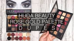 huda beauty rose gold palette dupes with makeup geek eyeshadows i futilitieore