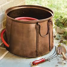 wicker hose storage