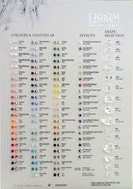 Swarovski Crystal Colour Chart Swarochart 52 00 Amya