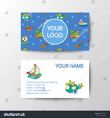 Business Card Kids Toys Template Corporate Stock Vector Royalty