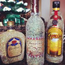 Liquor Bottle Decoration Ideas Great idea without the Alcohol of course BLING Alcohol 2