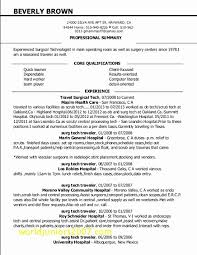 Surgical Tech Resume Samples Fresh Surgical Technologist Cover