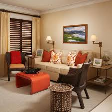 ... Living Room, Astonishing Tropical Living Room Design Feature Brown Living  Room Decorating Ideas: Astonishing ...