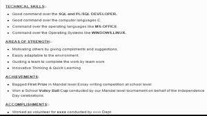 Sql Developer Resume Resume Templates