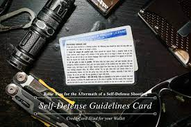 See our reviews & find who is rated #1 credit protection. Self Defense Guidelines Card For Your Wallet Millennial Diyer