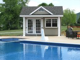 Pool Shed Ideas Wood Shed With Open Door Pool House Shed Plans