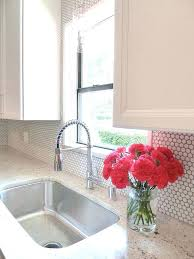 add a little texture to your with white penny tiles and grey grout tile backsplash diy