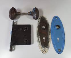 antique door knobs ideas. Modren Ideas Antique Victorian Pressed Steel Beaded Oval Door Knob Handle Lock Set With  New Ideas Knobs Hardware To G