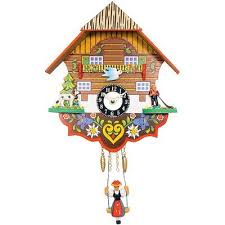 black forest chalet wall clock