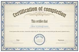 free certificate of completion template certificate of completion templates free download