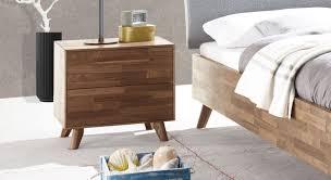 Schubladen Nachttisch Aus Fsc Zertifiziertem Nussbaumholz Dorota