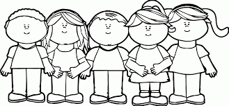 Children Coloring Pages With Preschool Also Colorful Art Kids